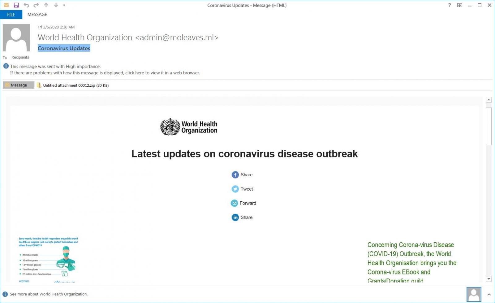 Coronavirus Spam