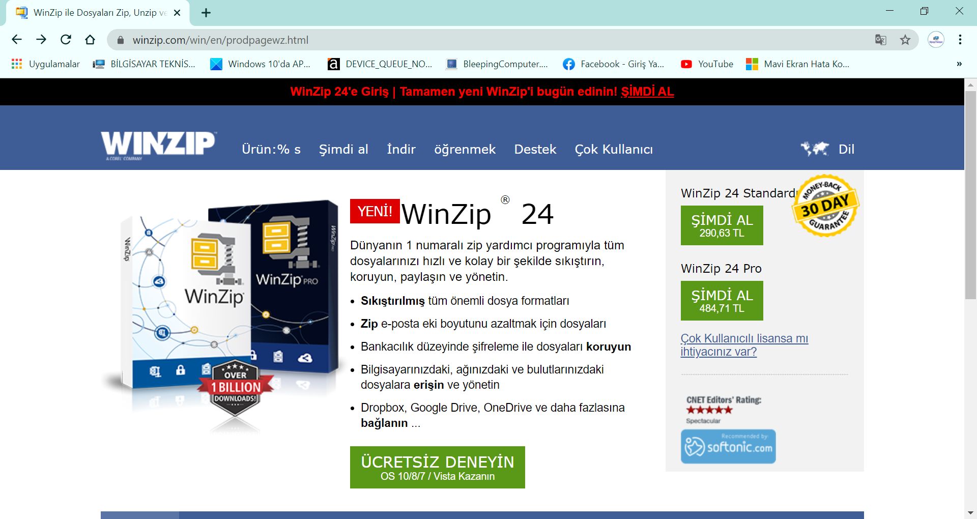 WinZip Web Sitesi