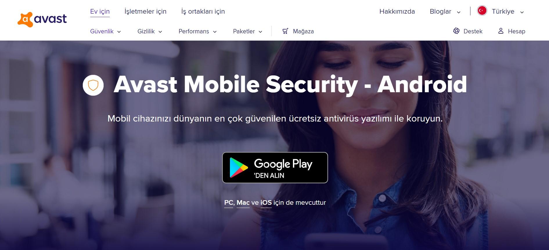 Avast web sayfası