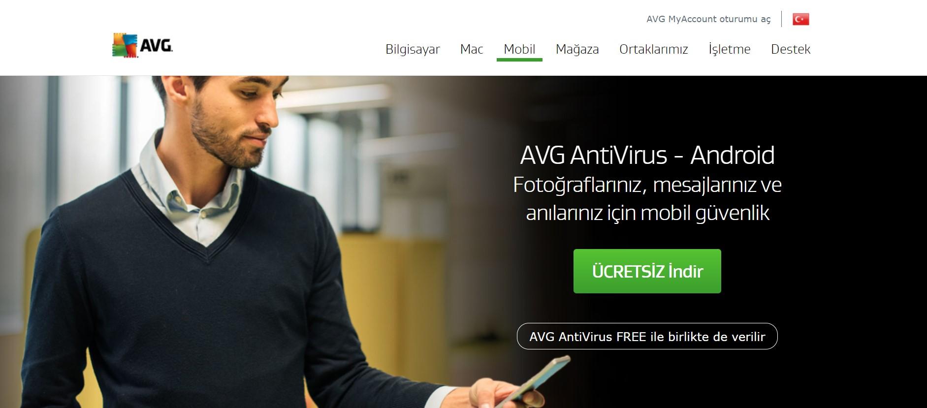 AVG web sayfası
