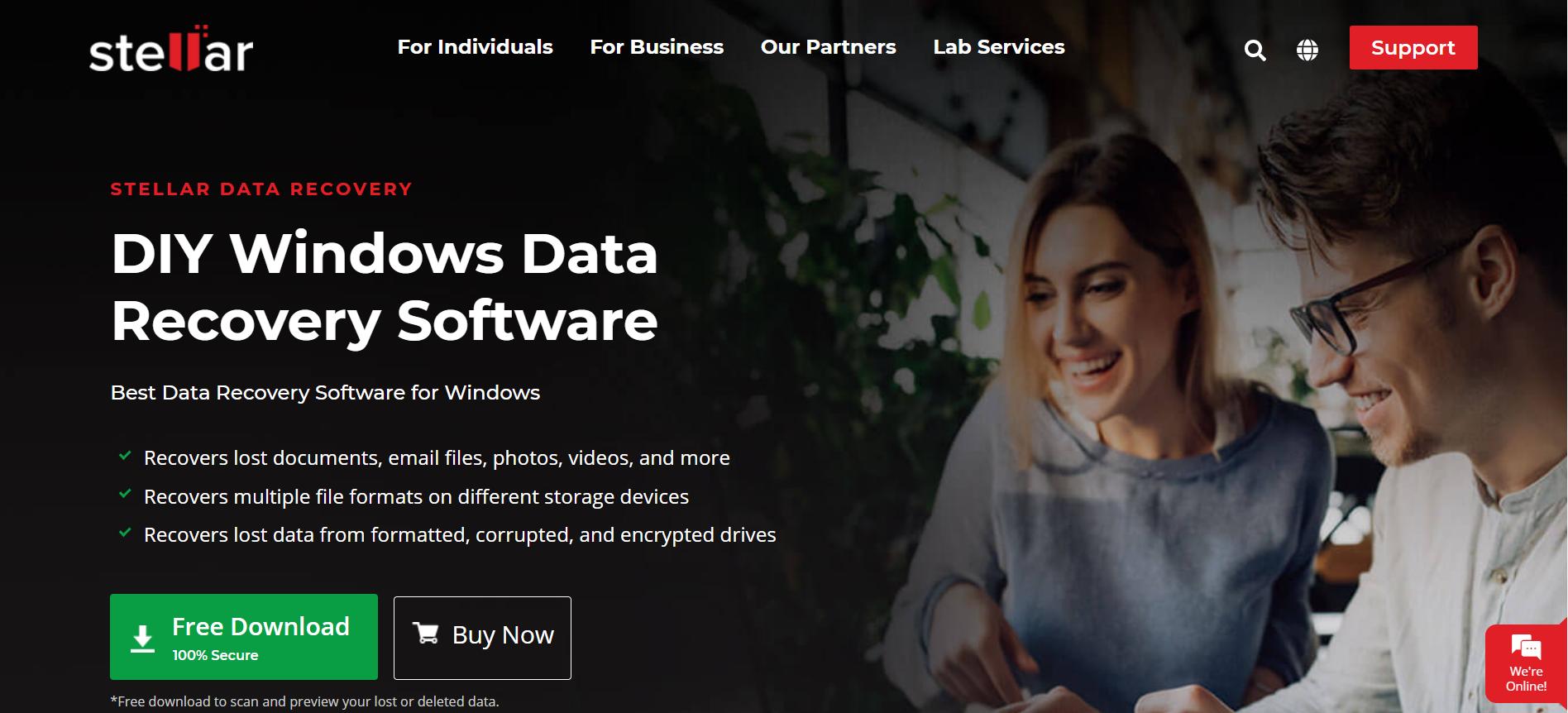 Stellar Data Recovery Web sitesi