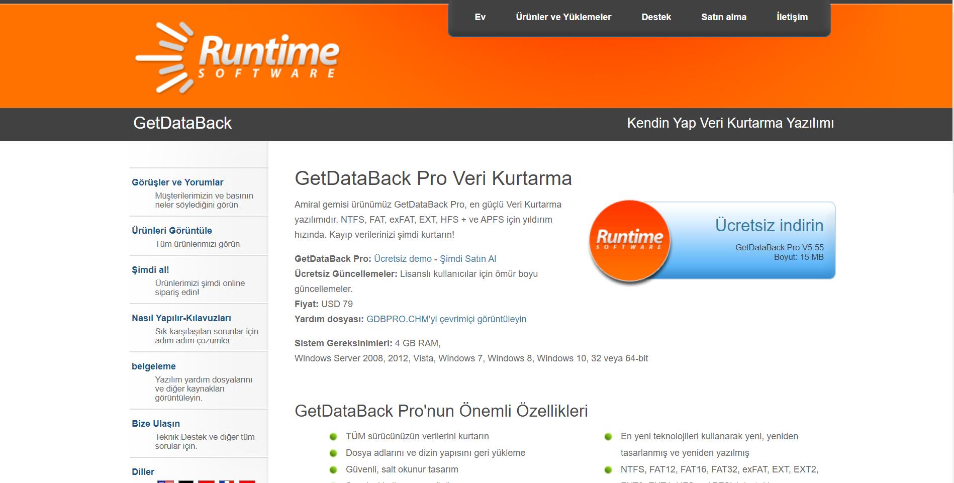 Runtime Web sitesi