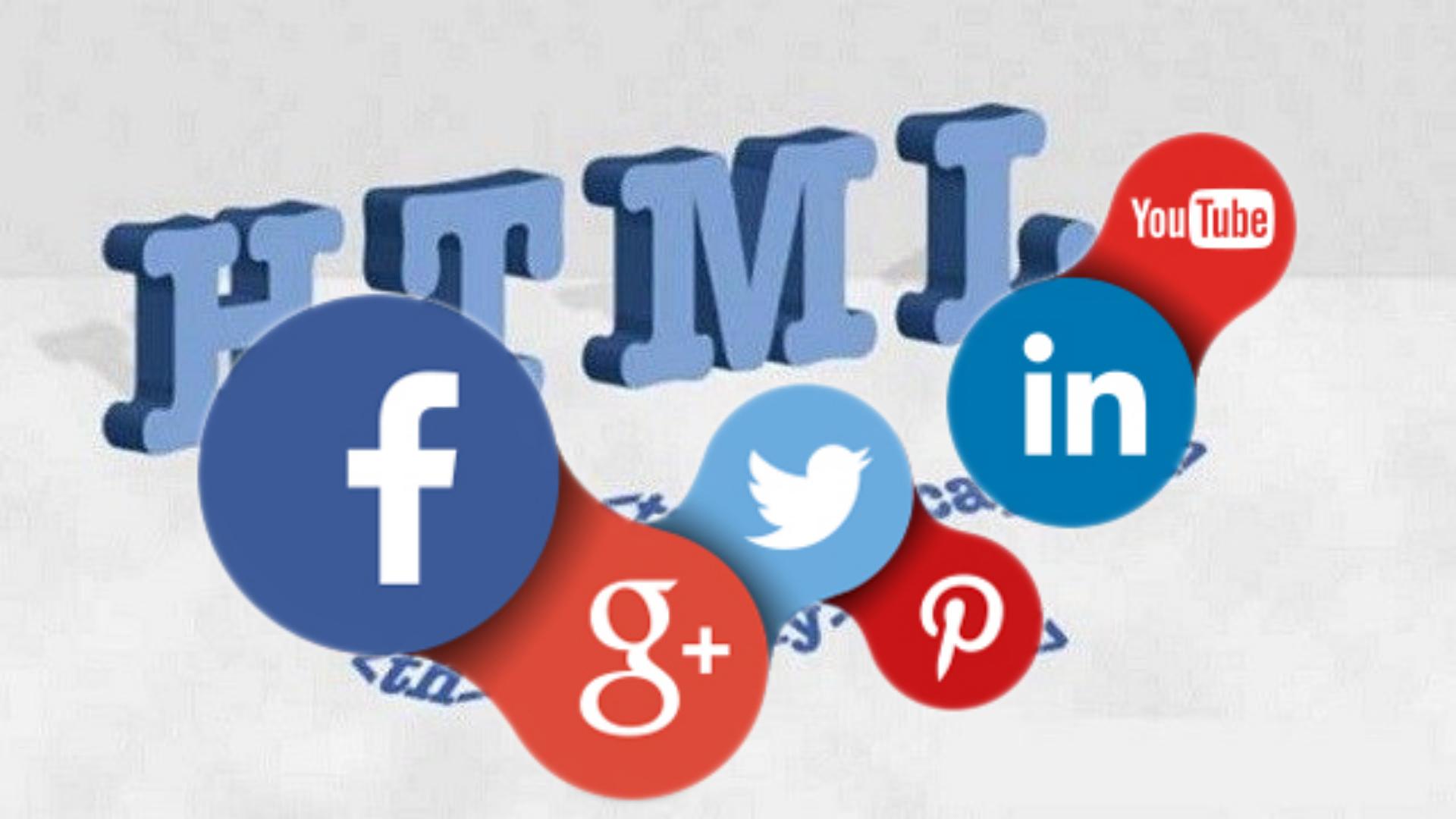 Sosyal Media Butonlarının HTML Kodları