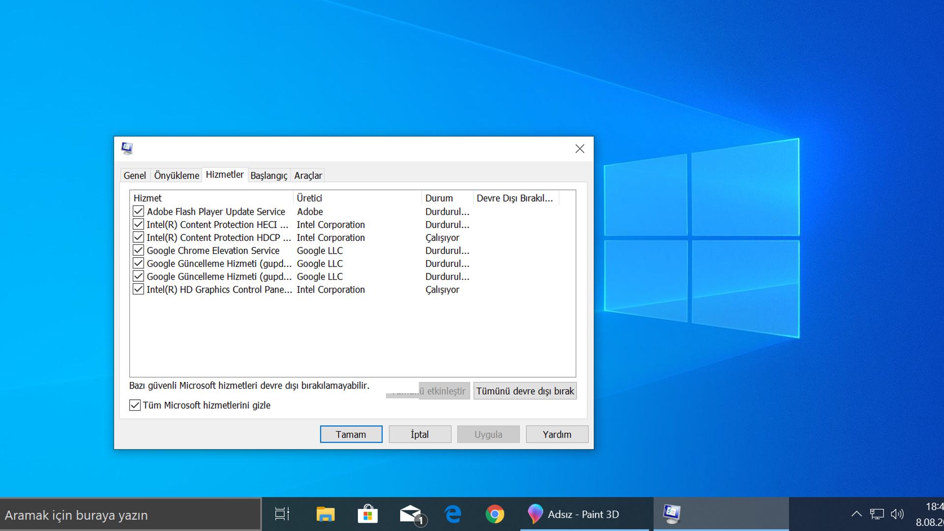 Windows'ta Temiz Önyükleme Gerçekleştirme