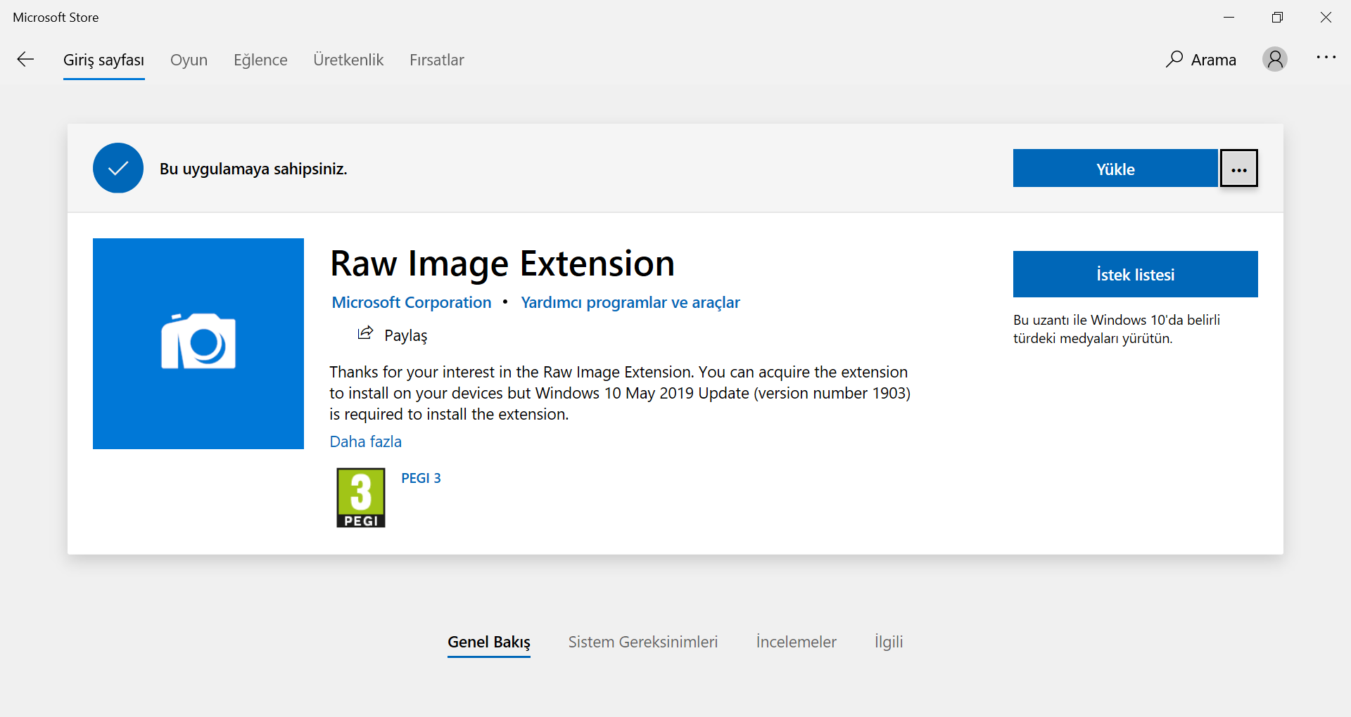 Raw Images Extension Eklentisini Simdi Yükle Düğmesine Tıklayıp Onaylayın