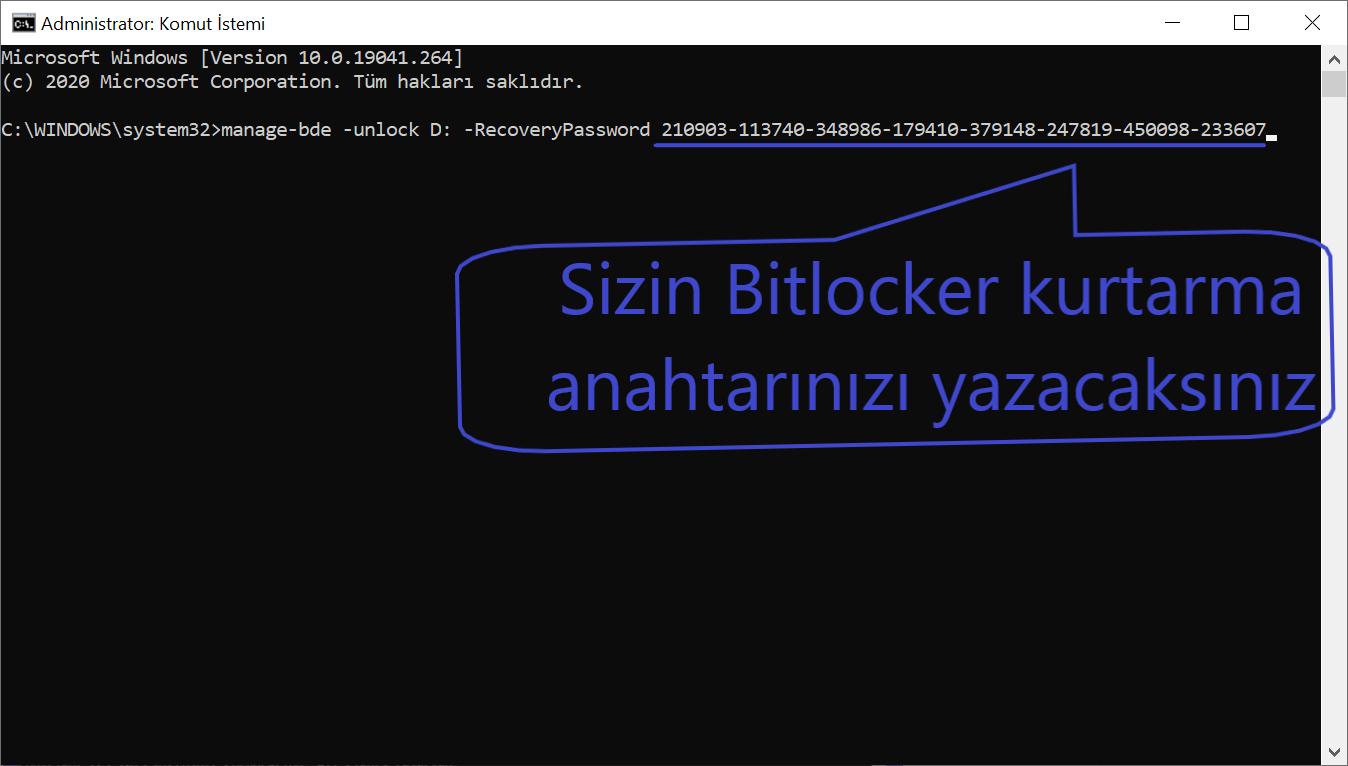 BitLocker Anahtarının Bulunması