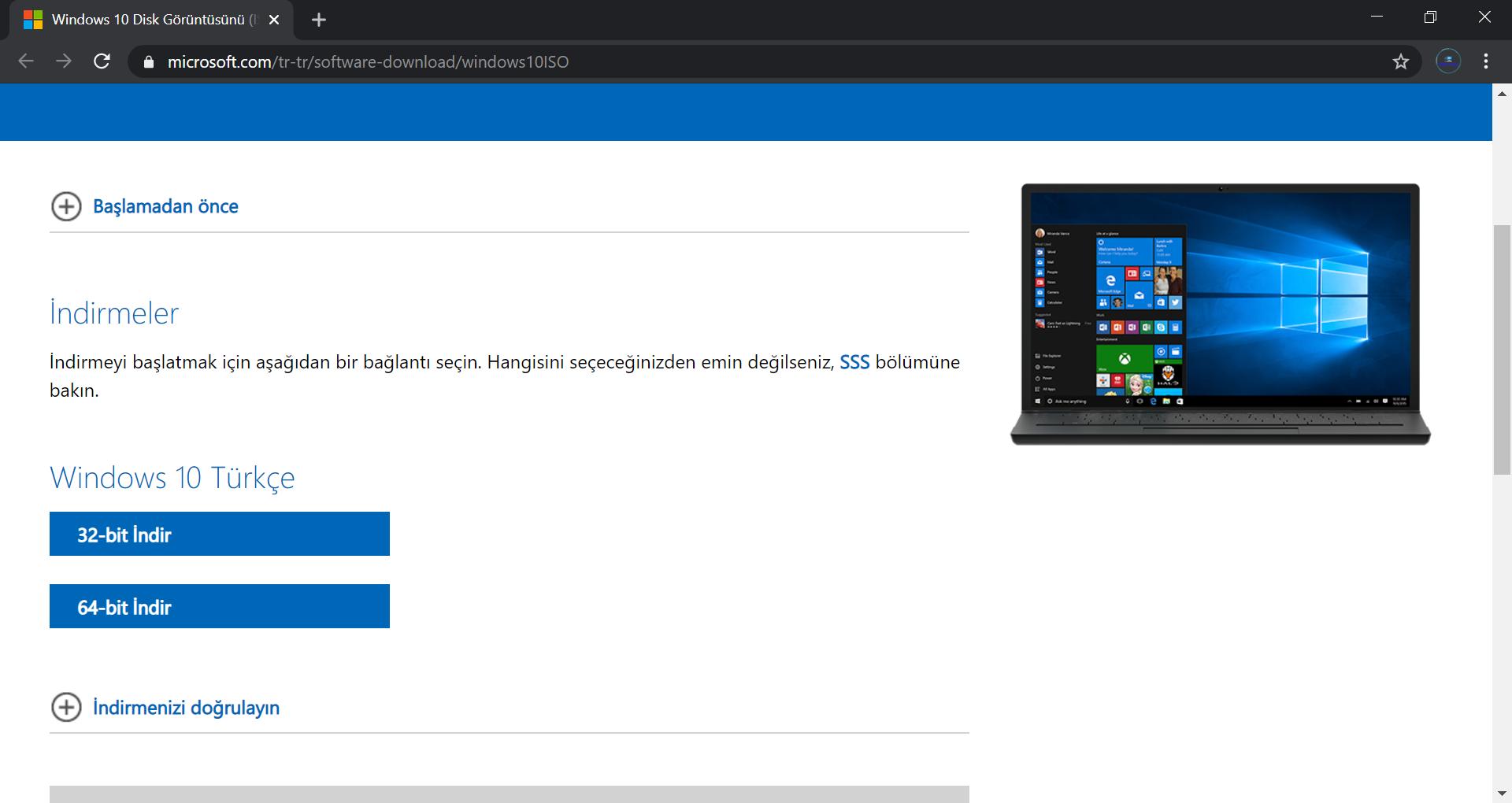 Medya Oluşturma Aracı Olmadan Windows İSO Dosyası Nasıl İndirilir?