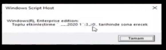 Windows 7 orjinal olmadığ için etkinleştirme son kullanma tarihi